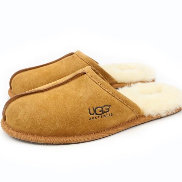 d4da2af071b UGG Australia Mens Scuff Chestnut Slippers NEW! Boutique